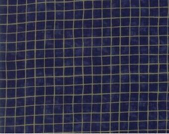 Sew American by Deb Strain for Moda - Navy Grid by the yard/half yard 19787-17
