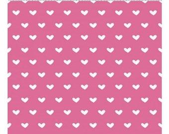 Vintage Valentine by Clothworks - White Hearts on Dark Pink Y2029-73 - off the bolt