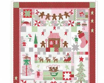 The Christmas Mouse by Bunny Hill Designs Block of the Month BOM Full Pattern