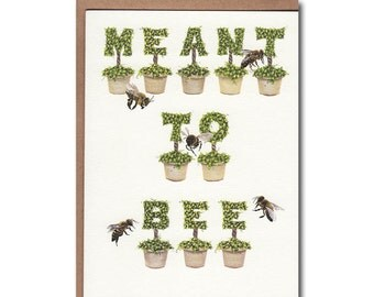 Meant To Bee Notecards - Topiary Notecards - Bee Stationary