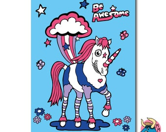 Unicorn Sketchbook, Sketch Pad, A5 Notebook, Plain Paper, Unicorn Stationery, Girls Gift, Teen Girls Gift, Girlfriend Gift, Girls Stationery