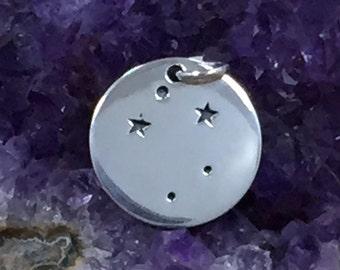 Zodiac Charm, Libra Charm, Zodiac Constellation Charm, Sterling Silver, Necklace Charm, Necklace Pendant, PS01507