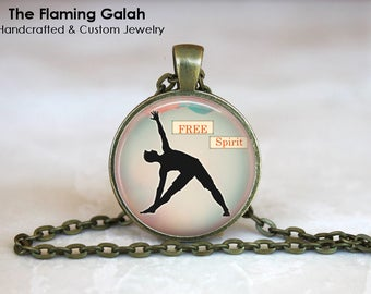 TRIANGLE POSE Pendant • Yoga Pose • Yoga Gift • Vinyasa Flow • Bikram • Yin Yoga • Gift Under 20 • Made in Australia (P1208)