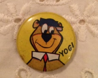 Vintage Yogi Bear Button Pin