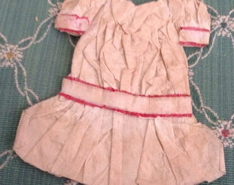 Antique Crepe Paper a drop Waist Doll Dress