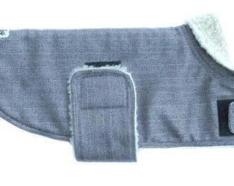 Warm Woolmix Herringbone Dog Coat