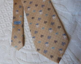 Lancel Vintage papillon Français mens soie cravate poisson w fabriqué en France Paris, accessoires de vêtements pour homme, cadeau pour les mecs, accessoire de Français