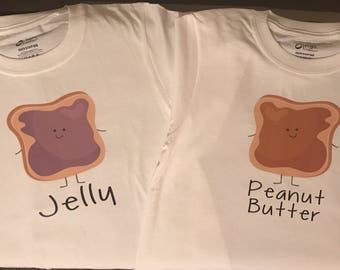 Peanut Butter & Jelly Twin Sibling T-shirts