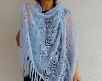 SALE, knit lace shawl, lace shawl, festival shawl, wedding shawl, mohair shawl, lace wrap, knit wrap, cover up, gift ideas, ready to ship