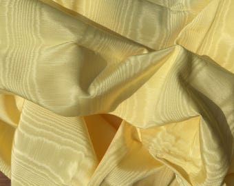 Yellow moire vintage fabric rayon pillows chair cover crafts