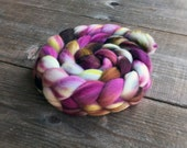 SILESIA color spinning fiber, Organic, Polwarth, roving, spinning, handpainted, hand dyed, top, wool