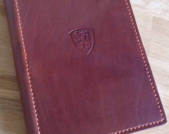 Handmade leather folder - A5