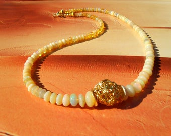Opal NECKLACE vitality wrap ball gold theatre dance