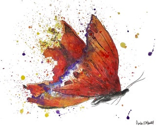 Butterfly Art, Butterfly Painting, Watercolor Butterfly, Watercolor Butterfly Print, Butterfly Wall Art, Butterfly Painting, Nursery Art