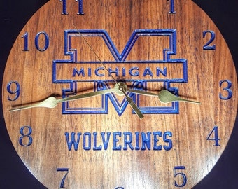 Michigan Wolverine Clock