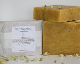 APRICOT GARDEN Homemade Soap, BeesBotanics all Natural Soap, Guest Soap, Natural Luxury Artisan Soap, Valentine Gift, Facial Soap