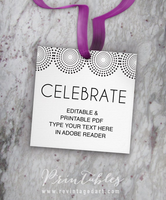 favor tag printable template celebrate tags wedding tags party favor tags shower tags. Black Bedroom Furniture Sets. Home Design Ideas