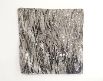 Marbled Bandana: Black & White