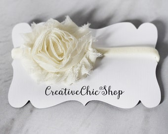 Flower on Nylon Baby Headband, Choose from 3 Colors of Flowers