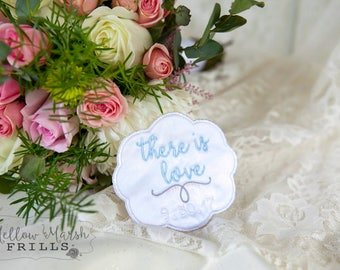 Custom Wedding Dress Label ~ Scallop Frame