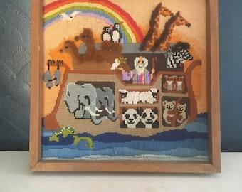 Noah's Ark needlepoint