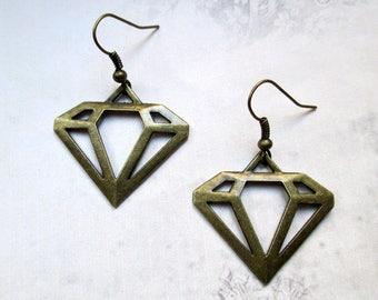 Earrings diamond vintage