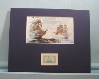 USS Constitution vs. HMS Java and Captain Issac Hull plus First Day Cover of its own stamp