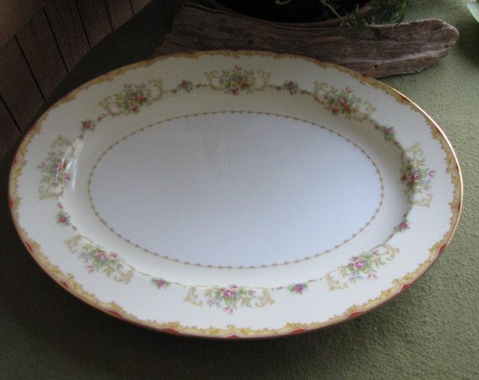 Noritake Large Dinner Platter Vintage Dinnerware and Replacement circa 1930s