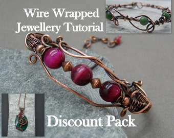 Wire wrapping tutorial ~ Wire wrapped jewellery tutorial ~ Jewellery instructions instant download ~ Wire wrap jewelry PDF instructions ~