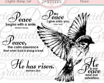 Peace - Digital Stamp Set