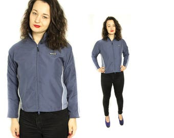 Reebok Windbreaker, Vintage Reebok, Reebok classic jacket, Sport jacket, Jogging jacket, Vintage Tracksuit, Blue sport jacket / Medium