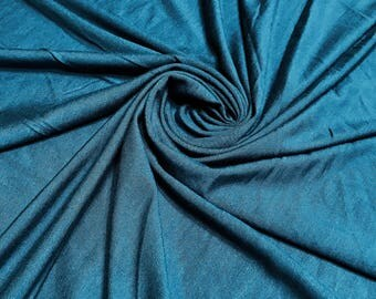 TEAL Rayon Spandex Jersey Knit Fabric, 4 Way Stretch, Four Way, BTY By The Yard