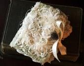 Beautiful Handmade Shabby Needle Case Book Keeper