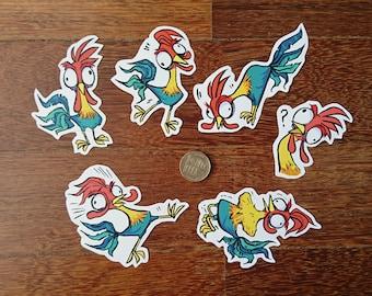 Hei Hei Stickers (PRE-CUT)