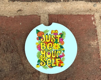 Coaster be yourself Absorbent Stone car coasters/recliner coasters (set of 2)