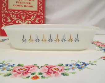Anchor Hocking Fire King Candle Glow Loaf Pan