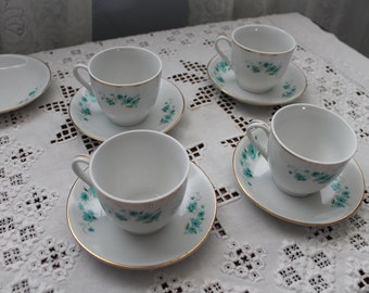 Four Vintage China tea cups and saucers