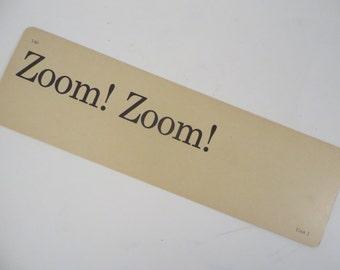 Retro Zoom Zoom! Flash Cards - Vintage Vocabulary Word Flash Card