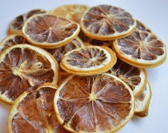 SALE !! Twelve Natural Dried Yellow Lemon Slices ~ Yule / Christmas Decorations