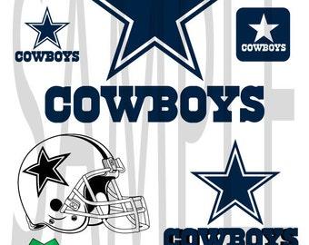 SALE!! Dallas Cowboy svg dfx png eps layered cut cutting files cricut silhouette cut decal vinyl