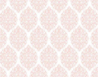 Damask Light Pink - Santoro, All For Love cotton fabric by Quilting Treasures