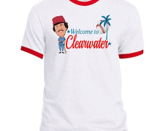Welcome to Clearwater Mens Ringer T-Shirt