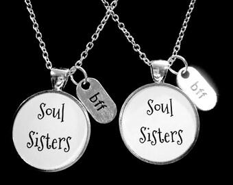 Best Friend Necklace, Soul Sisters Necklace, Best Friend Gift, BFF Necklace, Gift Necklace Set