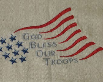 God Bless Our Troops Towel