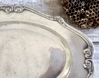 Vintage hotel silver serving tray from The Belmont New York