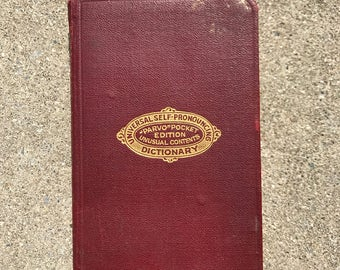 Pocket Dictionary Printed in 1923