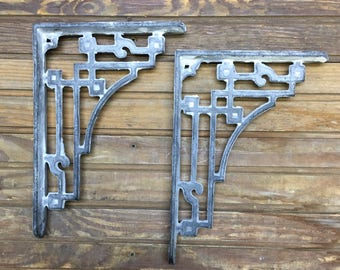 Pair of Cast Iron Shelf Brackets