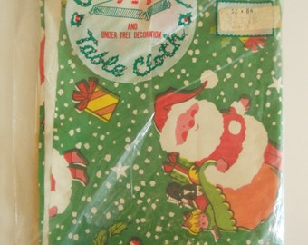 Unopened Plastic Christmas Tablecloth