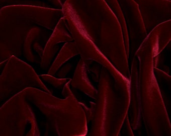 20% OFF Burgundy Velvet Fabric Dress Strechable velvet Commercial Fabric Curtain Fabric Fashion Velvet Upholstery Decorative Fabric