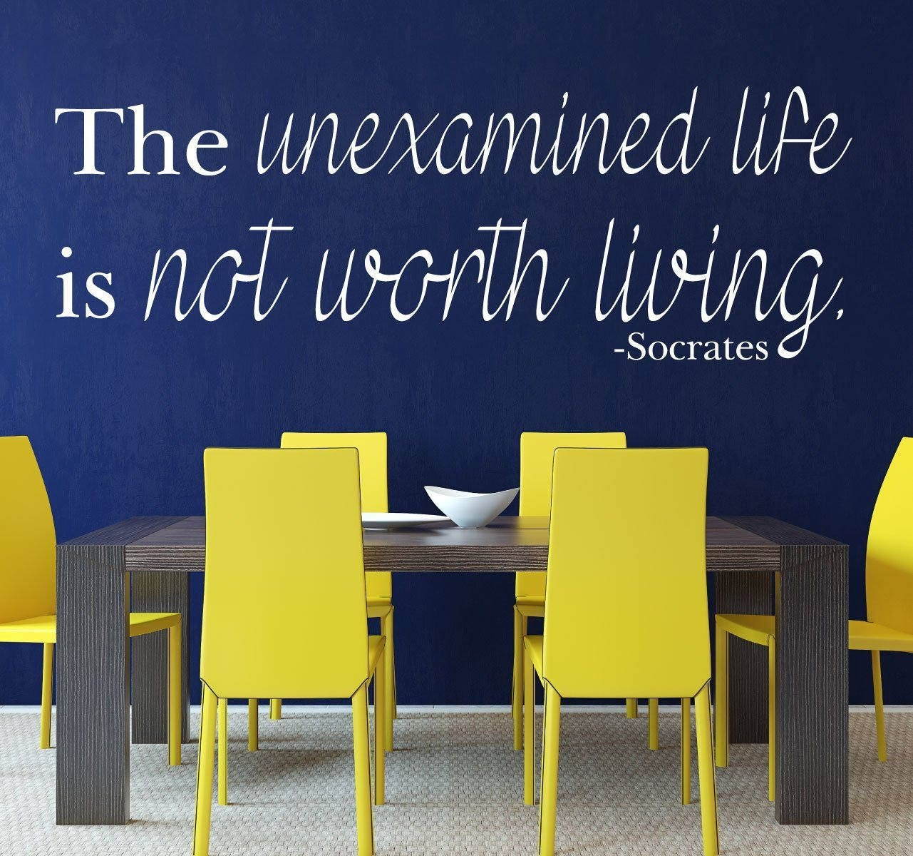 Quote Wall Decals The Unexamined Life Is Not Worth Living